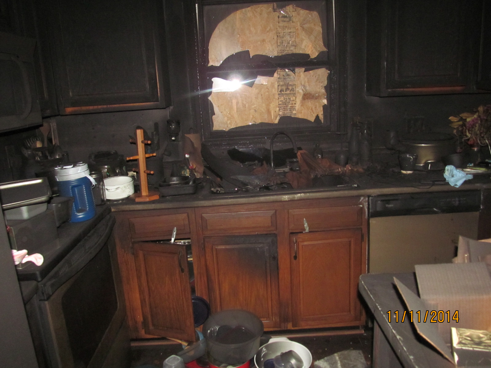 Kitchen Smoke and Fire Damage