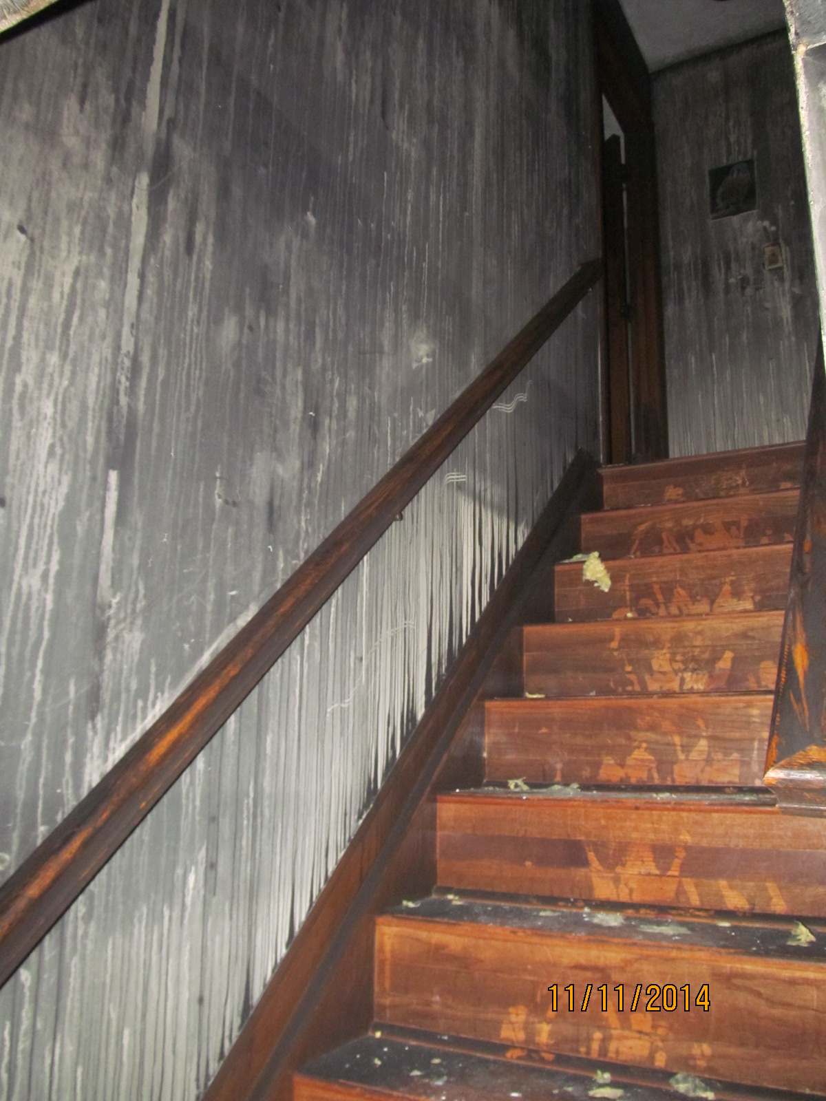 Stairs Smoke and Fire Damage