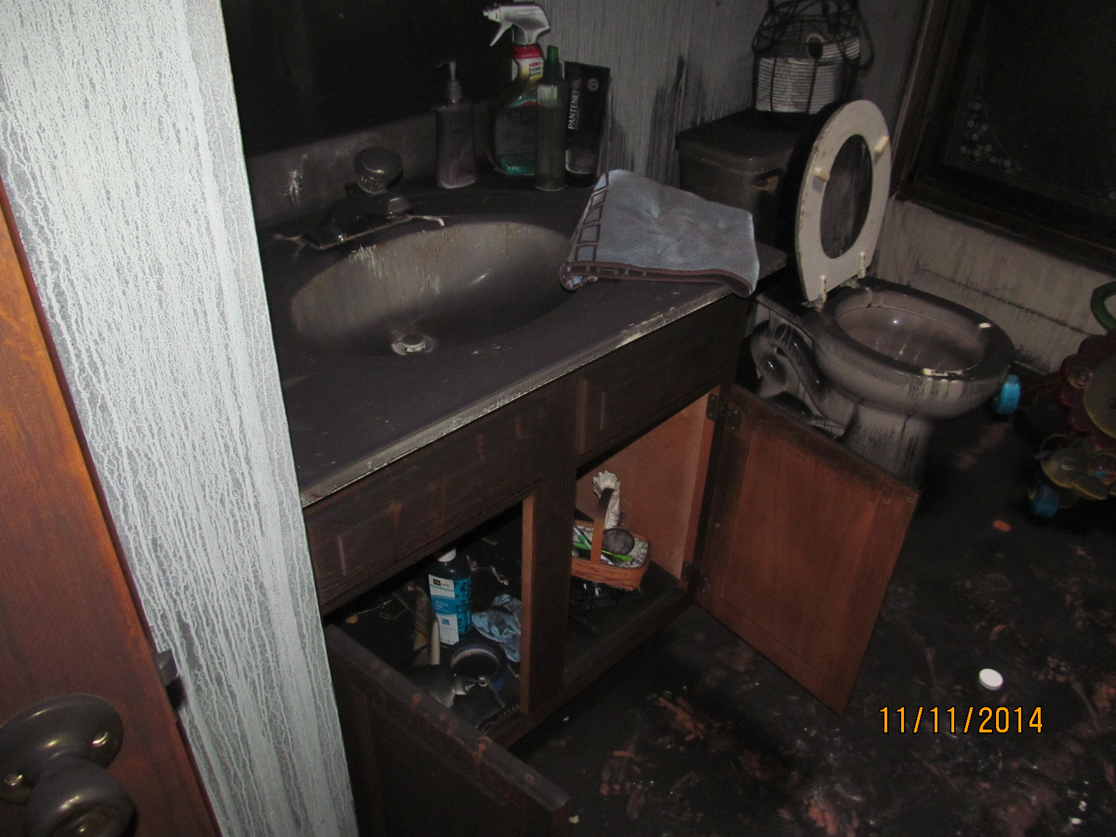 Bathroom Fire and Smoke Damage
